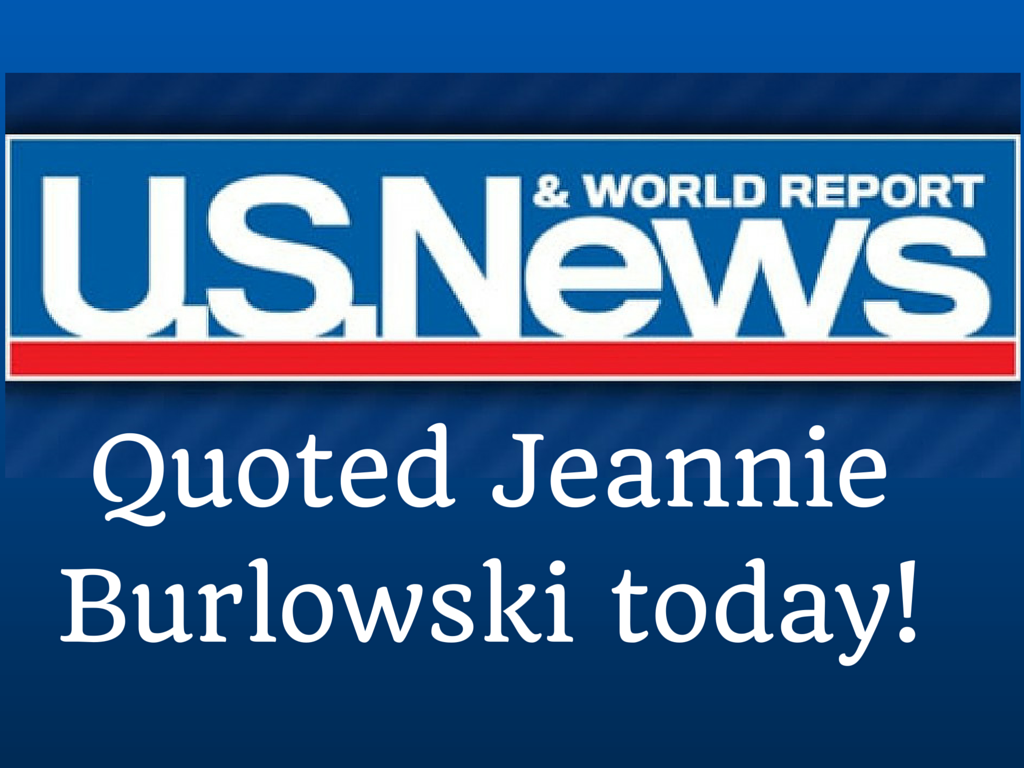 Quoted Jeannie Burlowski today!