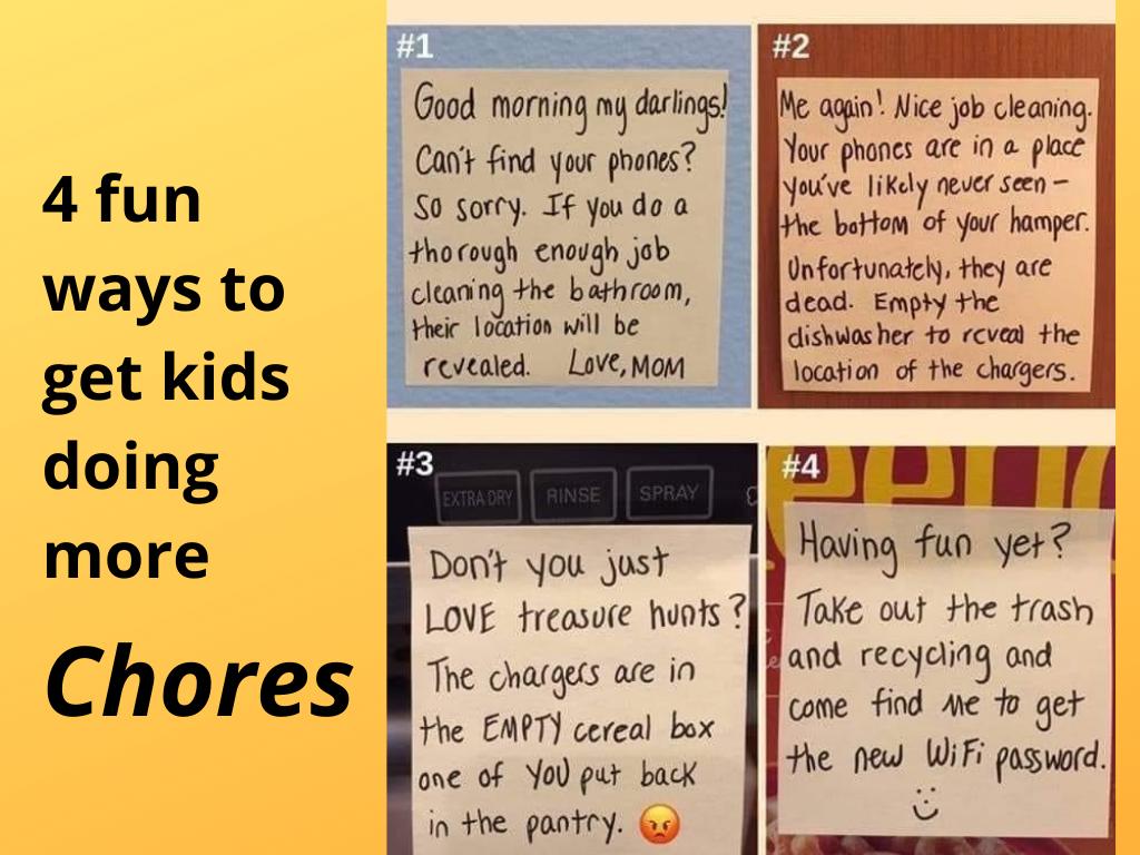 more chores